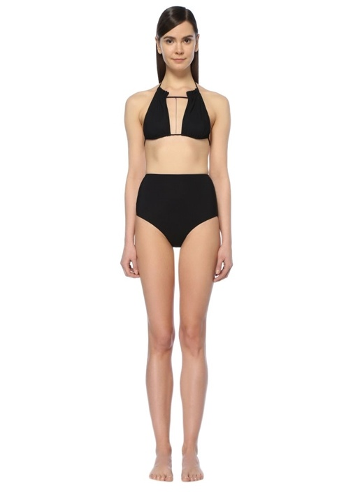 Siyah Üçgen Formlu Bikini Takımı