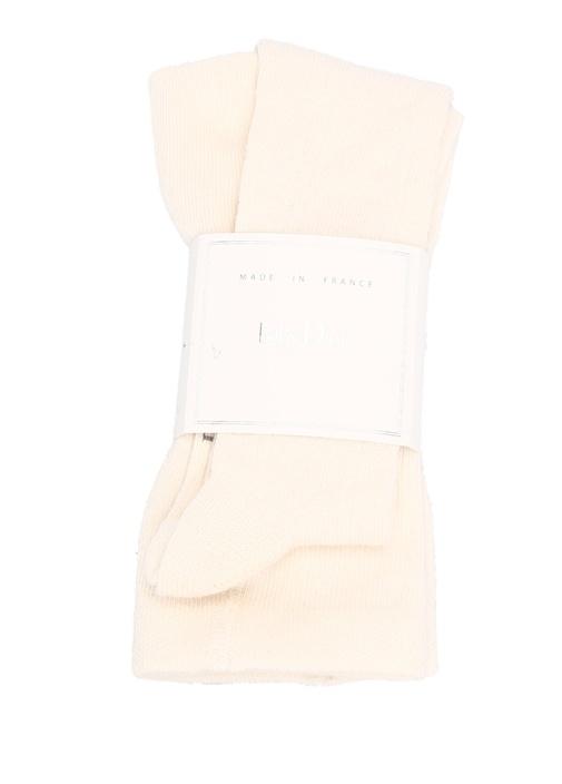 Pudra Pamuklu Kız Bebek Külotlu Çorap