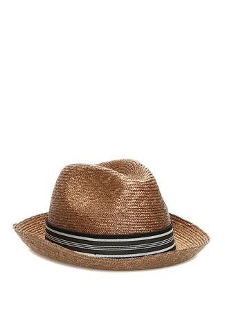 Erkek Taba Bant Detaylı Şapka Turuncu L EU