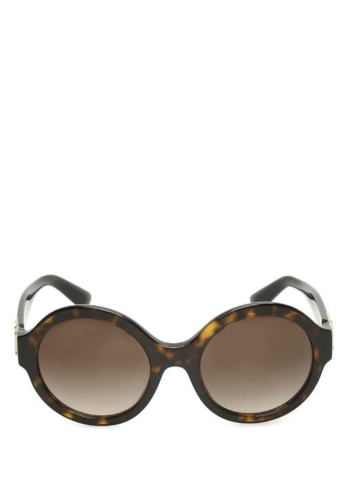 Kahverengi Yuvarlak Formlu Kadın Güneş Gözlüğü