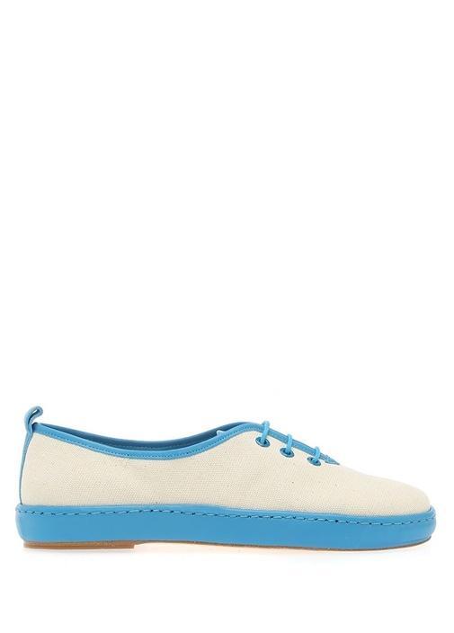 Port Lugat Mavi Deri Detaylı Kadın Sneaker