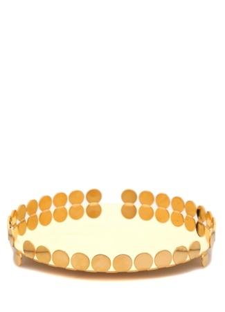 Nanna Gold Yuvarlak Formlu Orta Boy Tepsi Altın Rengi