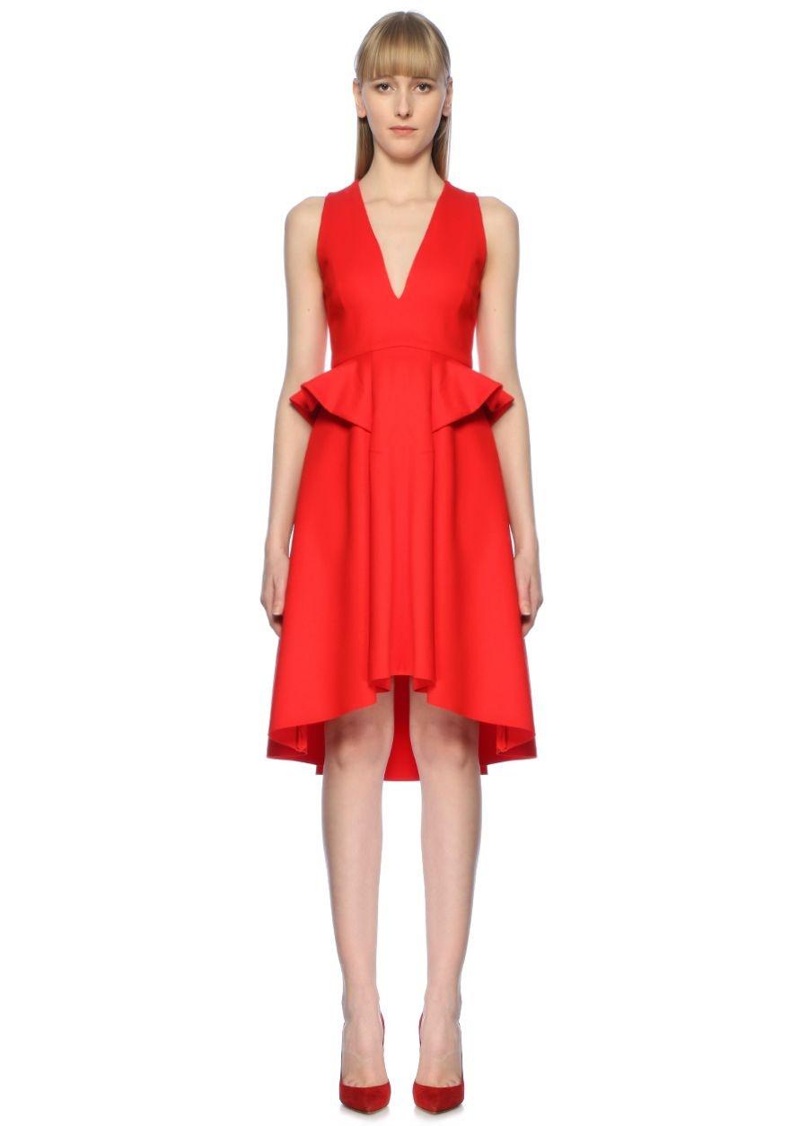 Elliatt Rapture Kırmızı Midi Kokteyl Elbise
