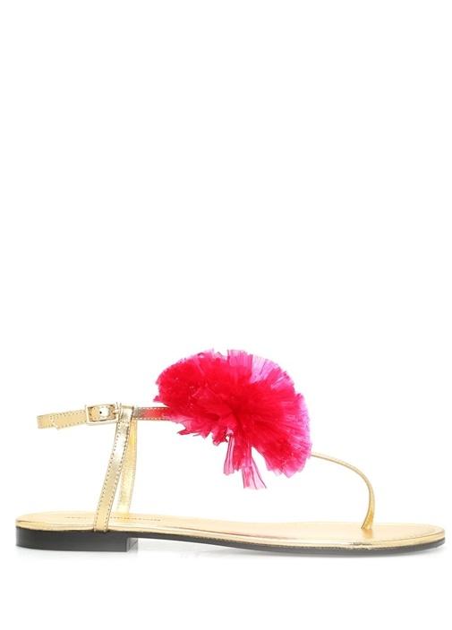 Antibes Fuşya Çiçek Detaylı Kadın Sandalet