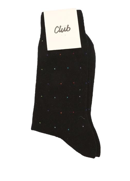 Siyah Mikro Desenli Erkek Çorap