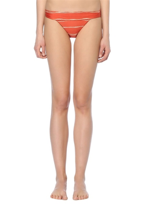 GRENADA Kiremit Çizgili Bikini Altı