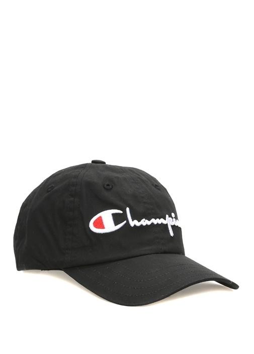 Siyah Logo Nakışlı Kadın Şapka