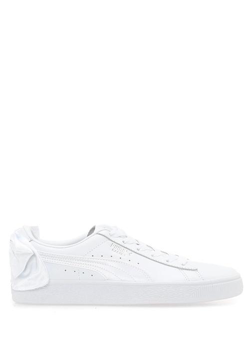 Basket Bow Beyaz Kadın Deri Sneaker