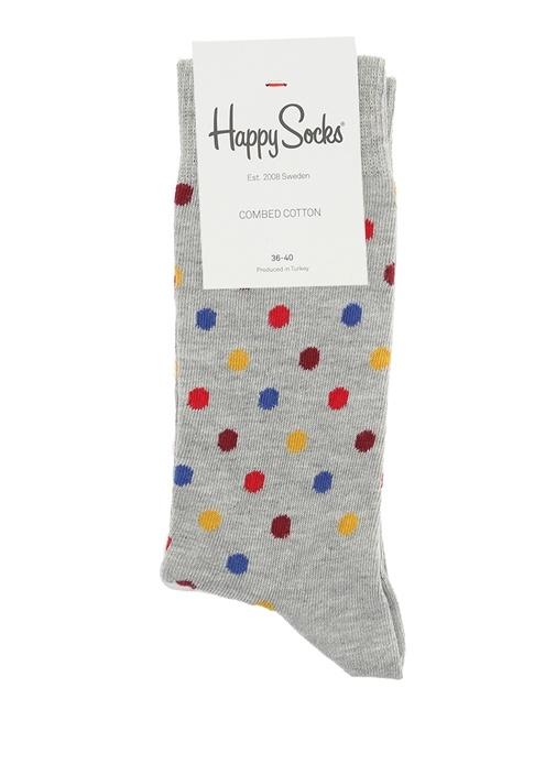 Gri Puantiyeli Kadın Çorap