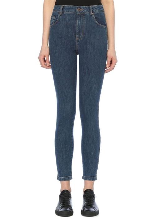 Yüksek Bel Dar Paça Vintage Jean Pantolon
