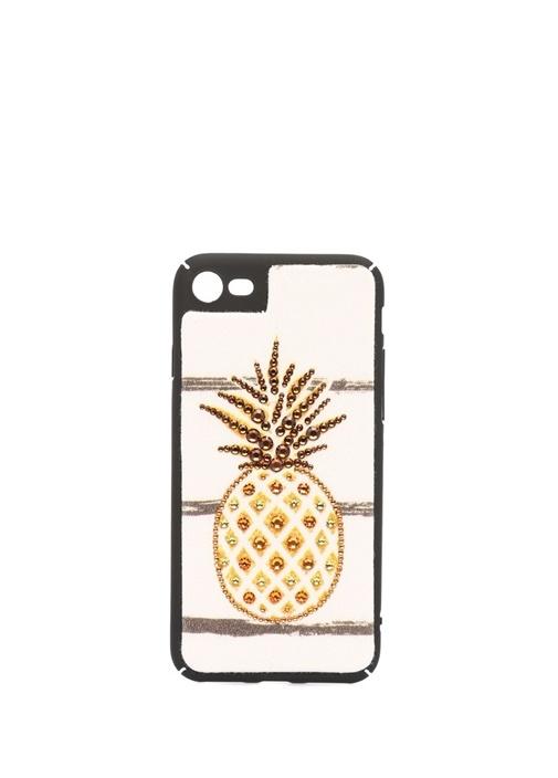 Ananas İşlemeli Kadın iPhone 5 Telefon Kılıfı