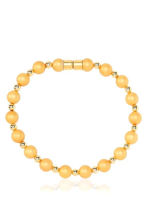 Evas Sarı Gold Choker Kolye