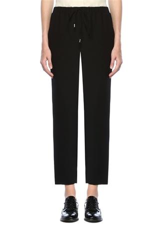 Beymen Club Kadın Siyah Yüksek Bel Krep Pijama Pantolon 34 EU