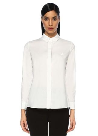 Beymen Club Kadın Beyaz Yıkamalı Oxford Gömlek XL EU