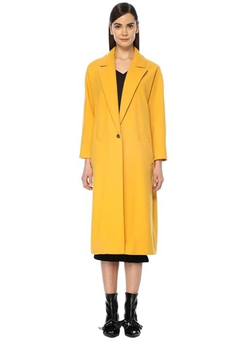 Beymen Club Sarı Kırlangıç Yaka Klasik Uzun Yün Palto – 849.0 TL