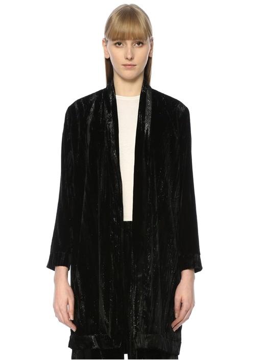 Beymen Club Siyah Şal Yaka Kimono Formlu Simli Kadife Ceket – 399.0 TL