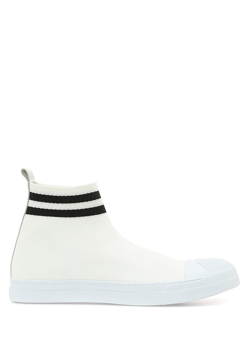 Neil Barrett Beyaz ERKEK  Beyaz Logolu Çorap Formlu Erkek Sneaker 507885 Beymen