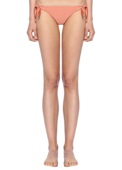 Pembe Normal Bel Bağlamalı Bikini Altı