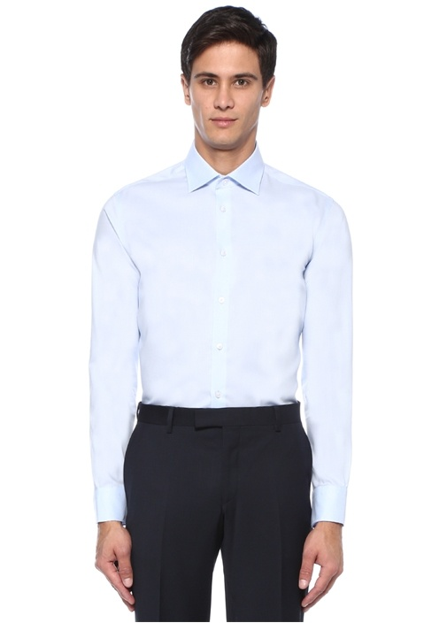 Slim Fit Mavi Non Iron Klasik Oxford Gömlek
