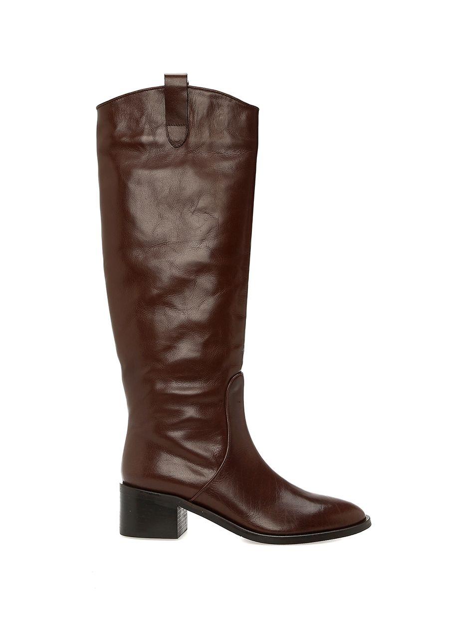 Beymen Club Kahverengi Kadın Deri Binici Çizme