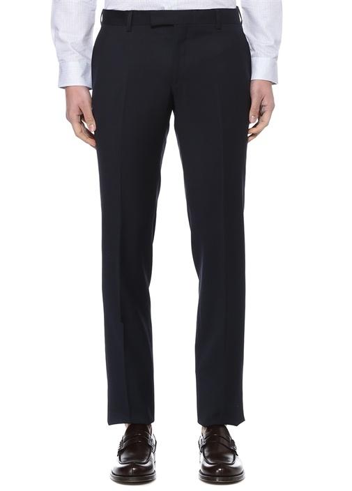 Lacivert Normal Bel Klasik Yün Pantolon