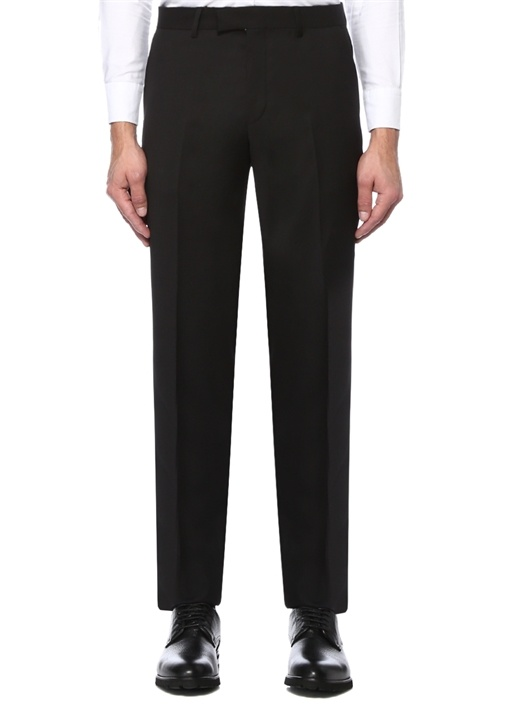 Siyah Klasik Yün Pantolon