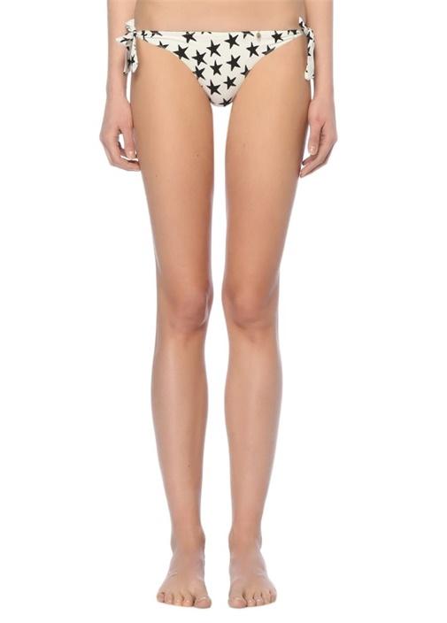 Siyah Beyaz Yıldız Desenli Bikini Altı