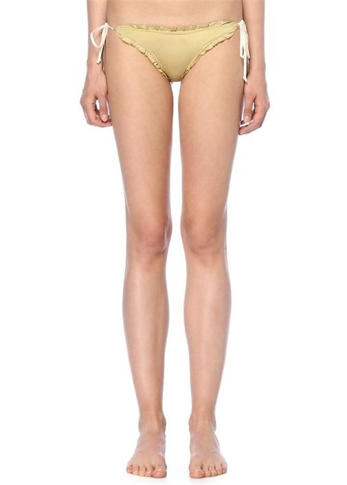 Lula Bej Yanları Bağlı Fırfır Detaylı Bikini Altı