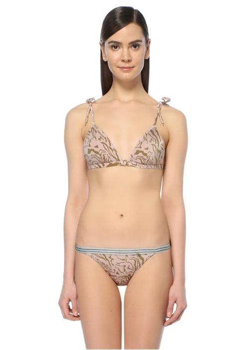 Miss Daisy Pembe Leoparlı Üçgen Bikini Üstü