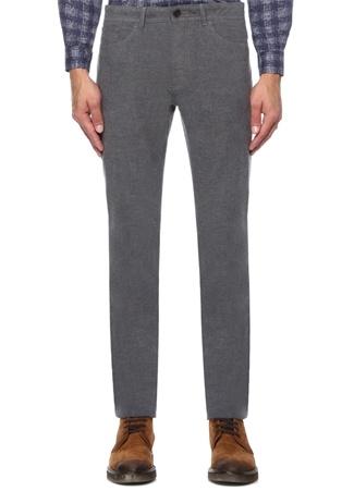 Gri Normal Bel Boru Paça Spor Pantolon