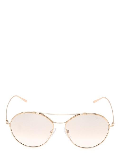 Rose Gold Oval Formlu Kadın Güneş Gözlüğü