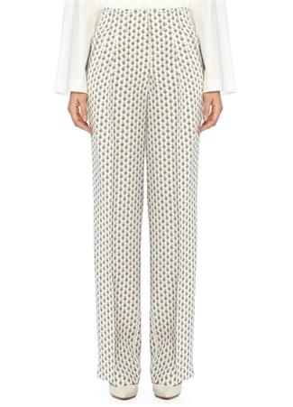 Etro Kadın Şal Baskılı İpek Beyaz Pantolon 40 I (IALY) Ürün Resmi