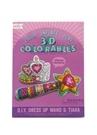 2li Taç ve Değnek Formlu 3D Çizim Kağıdı
