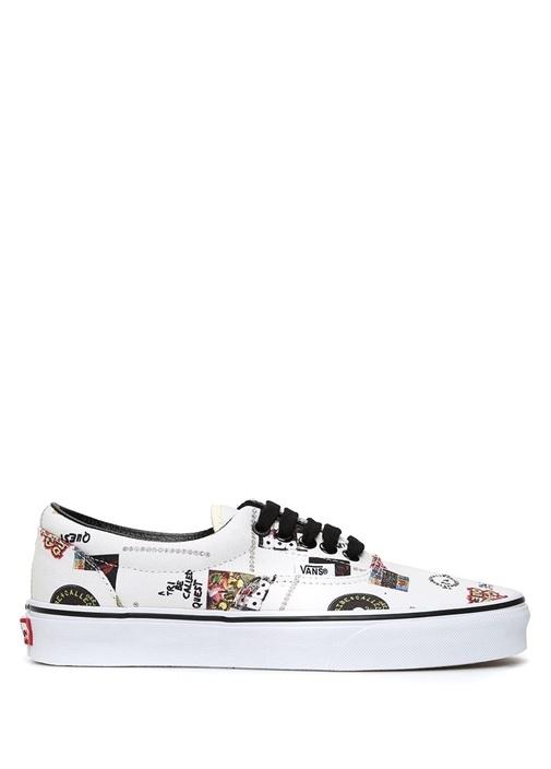 Vans Beyaz ERKEK  Beyaz Baskılı Erkek Sneaker 463335 Beymen