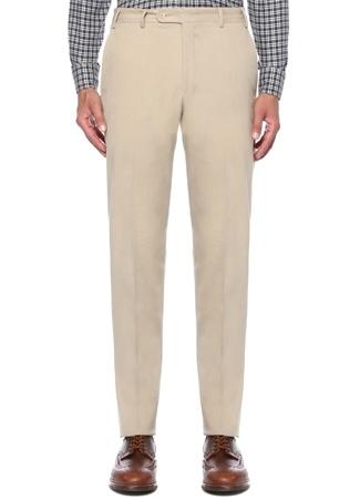 Drop 8 Pilesiz Bej Normal Bel Kanvas Pantolon