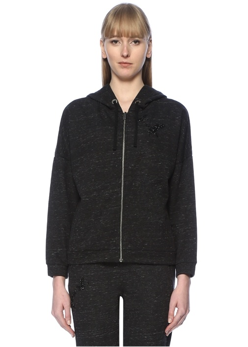 Beymen Club Antrasit Kuş İşlemeli Kapüşonlu Sweatshirt – 219.0 TL