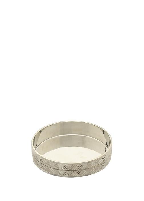 Silver İşlemeli Metal Bardak Altlığı