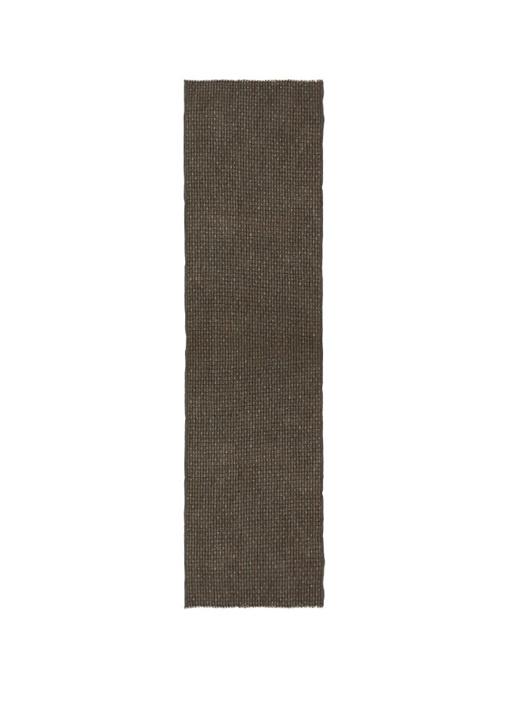 Kahverengi Mikro Çizgi Desenli Erkek Yün Atkı