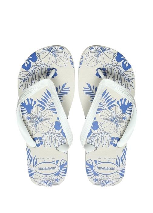 Havaianas Beyaz ERKEK  Aloha Beyaz Çiçek Desenli Erkek Plaj Terliği 473754 Beymen