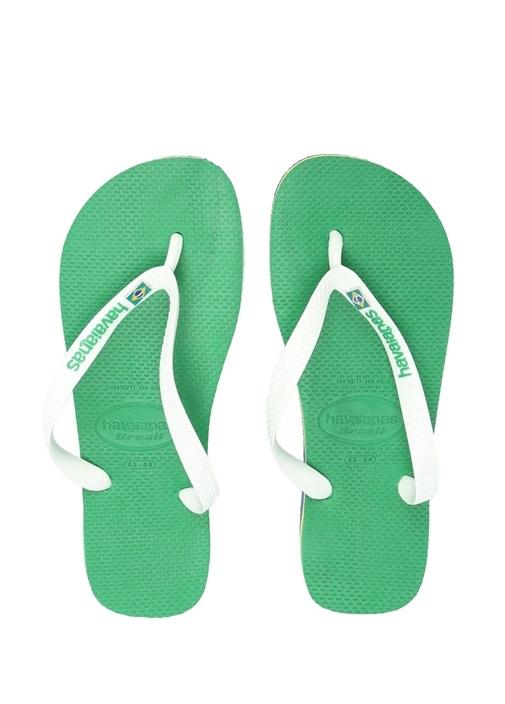 Yeşil Logolu Erkek Plaj Terliği