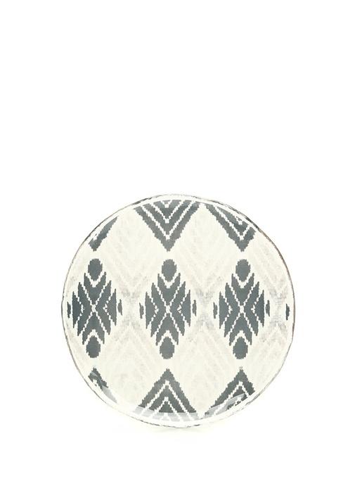 Şeffaf Siyah Etnik Porselen Dekoratif Tabak
