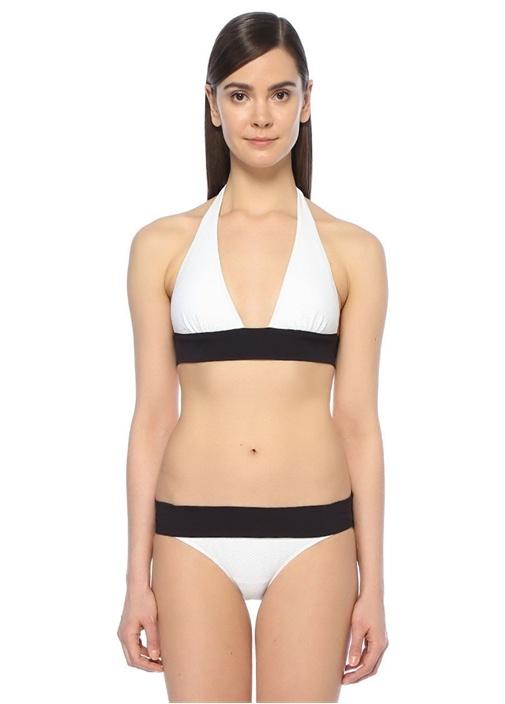 Anacapri Beyaz Destekli Halter Bikini Üstü