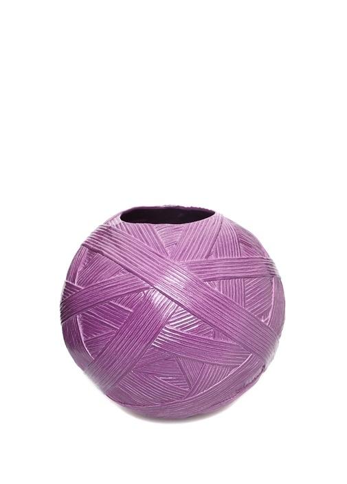 Jar Gomitolo Large Mor Porselen Vazo