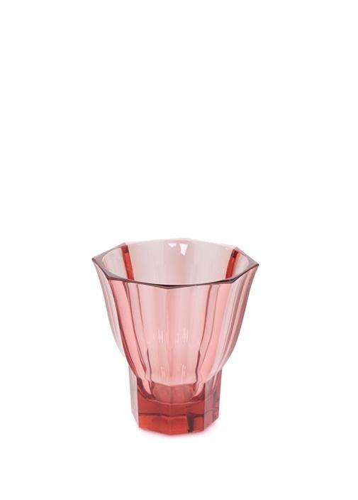 Kırmızı Kıvrımlı 14 cm Dekoratif Kristal Kase
