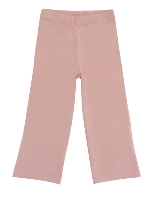 Pembe Yüksek Bel Unisex Çocuk Krep Pantolon