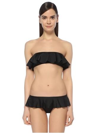Milly Cabana Kadın Bandeau Siyah Straplez Volanlı Bikini Üstü L Ürün Resmi