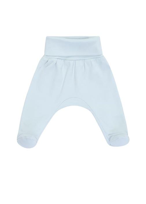 Mavi Unisex Bebek Organik Pamuklu Pantolon