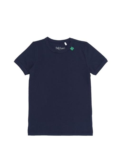 Lacivert Erkek Çocuk Basic T-shirt