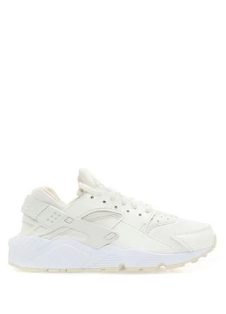 Nike Kadın Air Huarache Run Beyaz Deri Sneaker 7.5 US