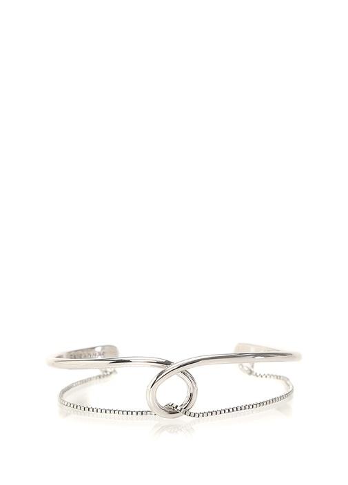 The Loop Silver Düğümlü Kadın Bilezik